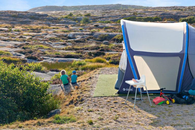 Tält och husbilsplats vid First Camp Solvik-Kungshamn.