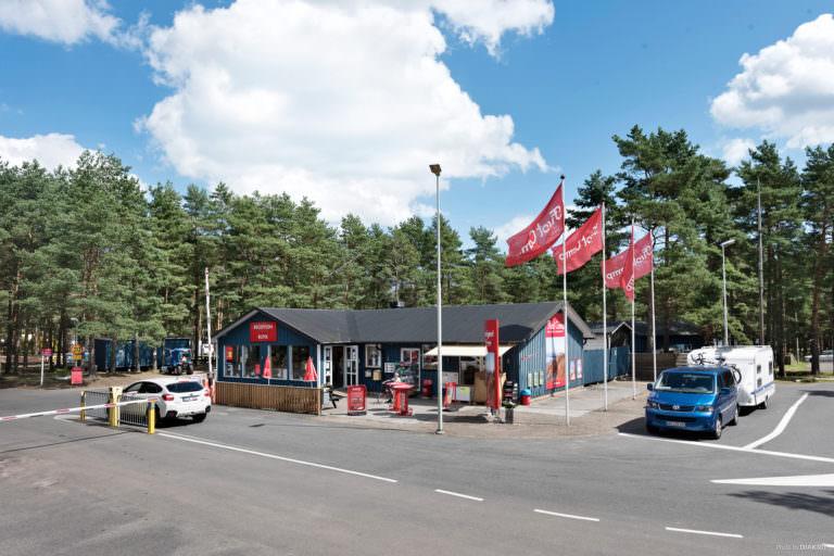 Receptionen på First Camp Åhus-Kristianstad.