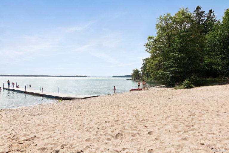 Strandbad och bastu