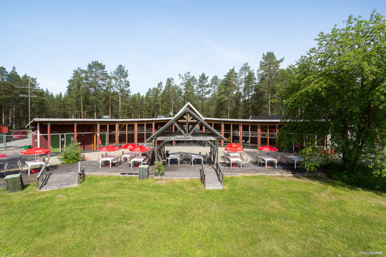 Byggnad vid First Camp Arcus-Luleå.
