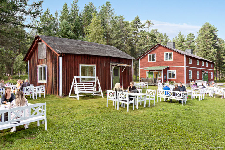 Bord vid First Camp Arcus-Luleå.