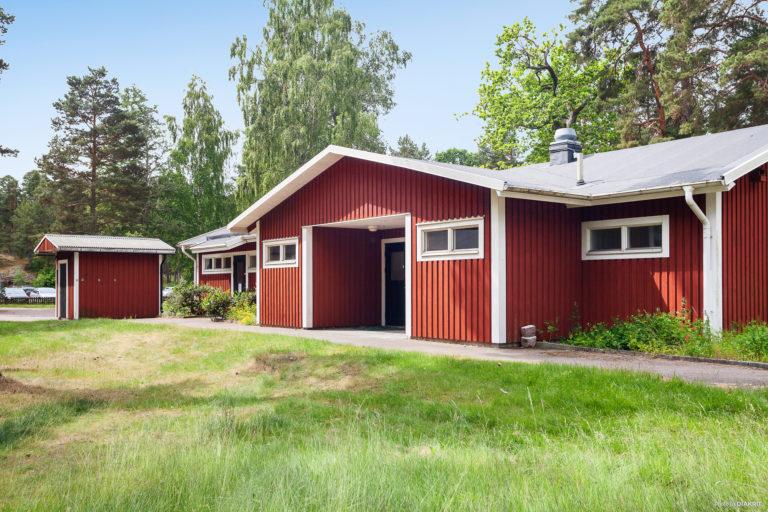 Servicehus vid First Camp Gunnarsö-Oskarshamn.