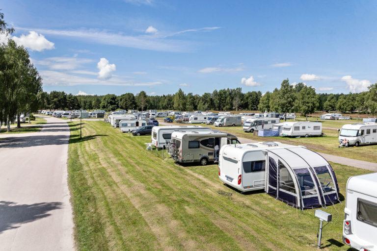 Campingtomter vid First Camp Skutberget-Karlstad.