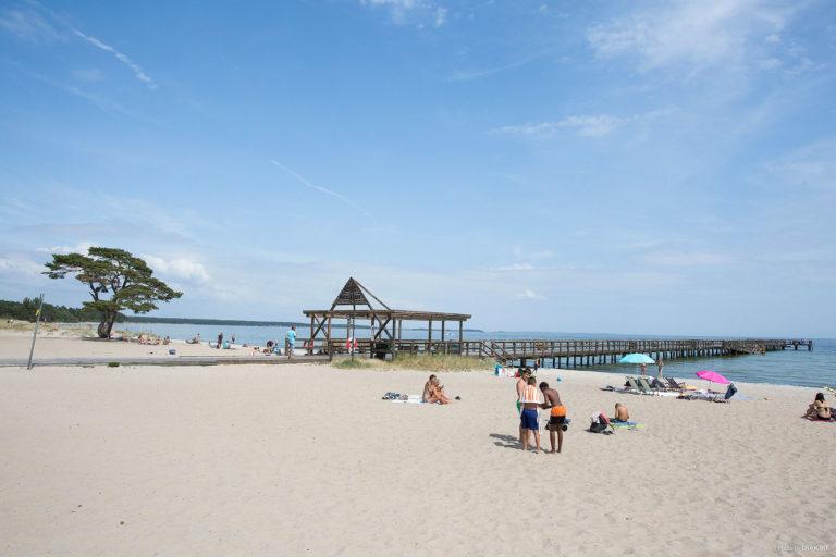 Barnvänlig strand