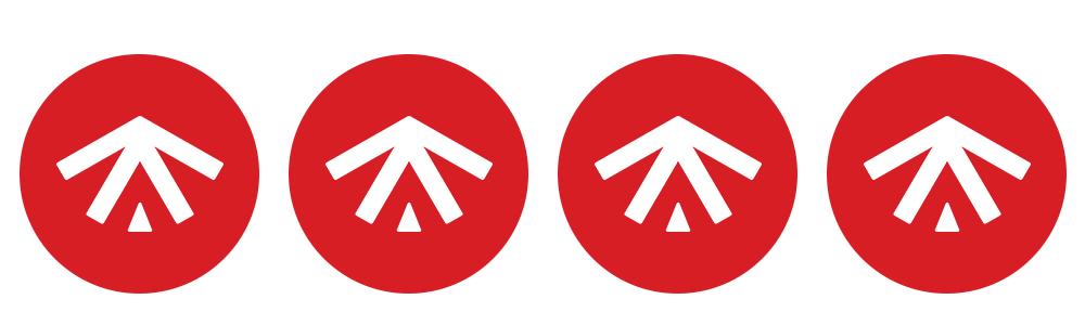 klassificering fyra symboler First Camp
