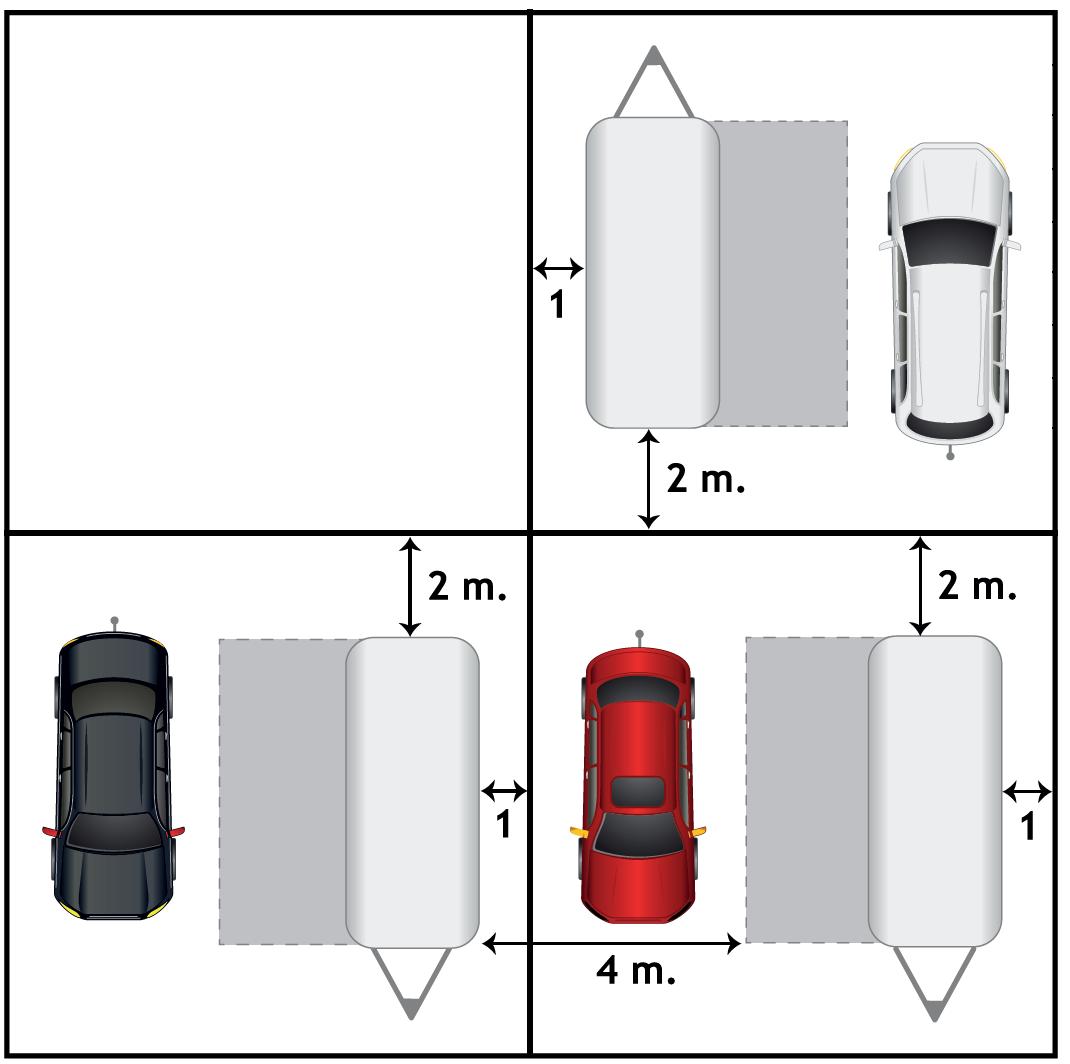 uppställningsregler för campingtomt visar hur husvagnsekipage ska ställa upp på campingtomt