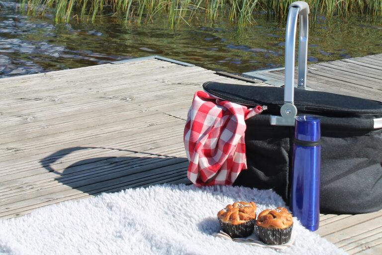 Picknickkorg redo vid First Camp Ånnaboda-Örebro.