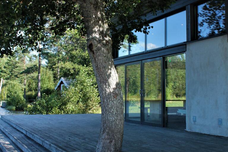 Konferensanläggning utvändigt hos First Camp Ånnaboda-Örebro.